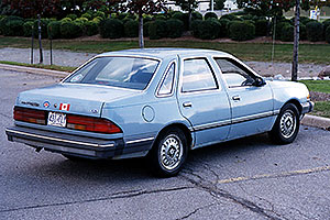 my blue 1986 Ford Tempo