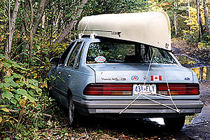 returning 1 day late, after storm on Rabbit lake … my blue 1986 Ford Tempo