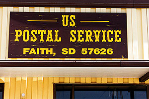 US mail Post office in Faith, South Dakota … Christina moving Chicago-Phoenix