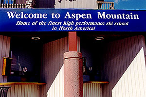`Welcome to Aspen Mountain - Home of the finest high performance ski school in North America`