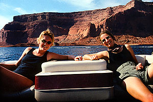 Sandra and Eva at Lake Powell