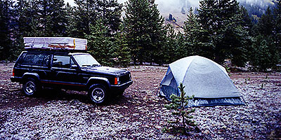 one of many camping mornings - so nice with snow :-) … moving Chicago-Phoenix