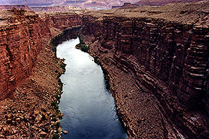 Looking south at Colorado River … near North Rim of Grand Canyon, Arizona