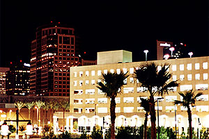 Phoenix downtown at night