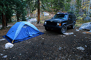 camping by Independence Pass