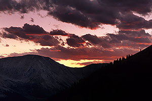 sunset by Independence Pass