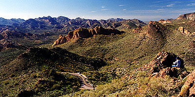 Road from Apache Junction to Superstitions
