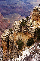 View from top of Bright Angel Trail at Grand Canyon