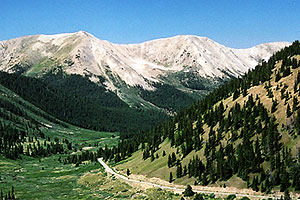 view from Independence Pass towards Aspen