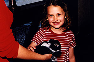 Jana with bunny in Oresnica