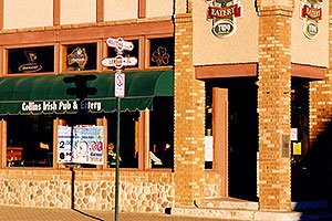 Collins Irish Pub and Eatery in Flagstaff, at the corner of Route 66 and Leroux