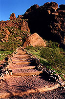 trail up Camelback Mountain