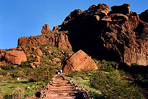 trail bottom of Camelback Mountain