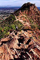 view from Camelback Mountain towards second peak