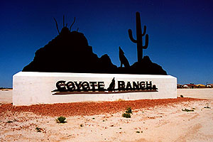 Coyote Ranch near Casa Grande, Arizona