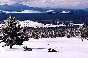 Snowmobilers at Snowbowl