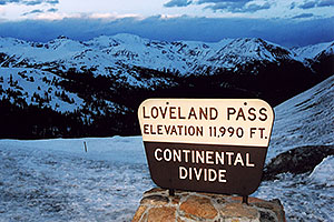 views of Loveland Pass