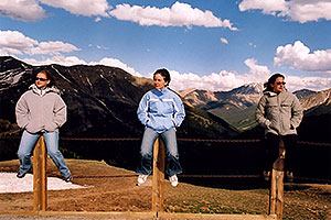 Aneta, Ewka and Ola at top of Independence Pass