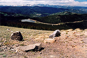 view of Echo Lake from 12,000ft along Mt Evans road