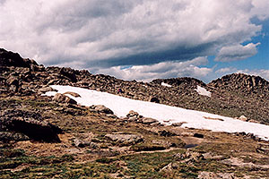 hikers at 12,000 ft … along  Mt Evans road