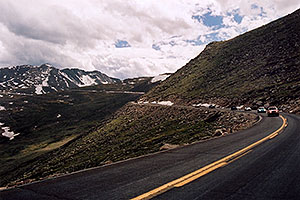 view along Mt Evans road
