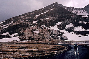 Mt Evans road next to Summit Lake (right)