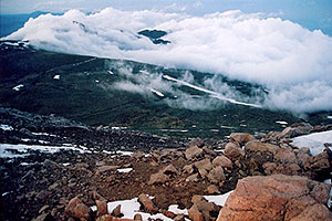 view from top of Mt Evans