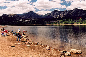 fishing by at Estes Lake