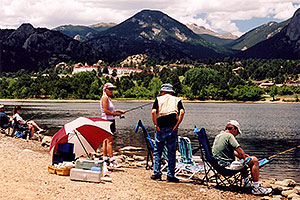fishing at Estes Lake