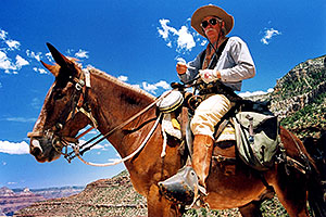 Horseback riding guide in Grand Canyon