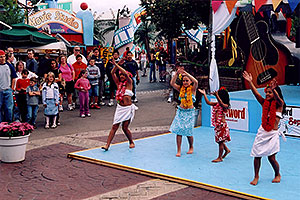young dancers at Six Flags Amusement Park