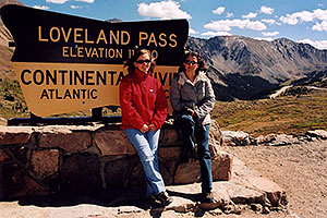 Aneta and Ola at Loveland Pass