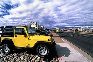 yellow Jeep Wrangler at Lithia Centennial Jeep