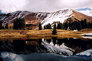 images of Paradise Divide lake (elev 11,250 ft)