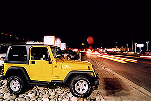 yellow Jeep Wrangler Sport at Lithia Jeep in Centennial, Colorado