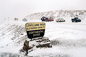 images of Loveland Pass - elevation 11,990 ft - Continental Divide