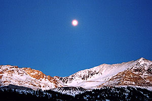 Moon over Fremont Pass, looking from Leadville side
