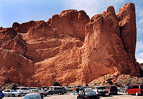 rock of Kissing Camels at Garden of the Gods
