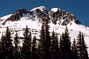 Mountains view from Molas Pass