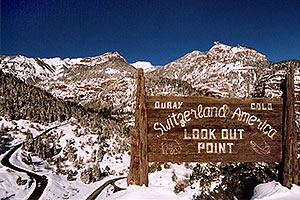 Switzerland America lookout point … view from above Ouray