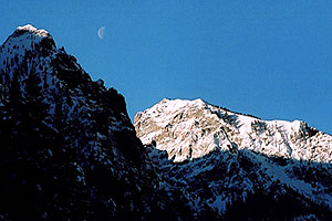 morning moon by Ouray
