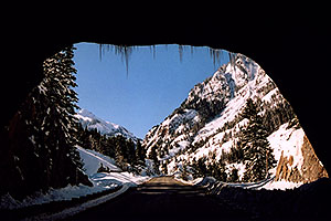 tunnel near Ouray … heading to Silverton