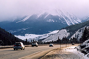 road near Silverthorne, after Eisenhower Tunnel