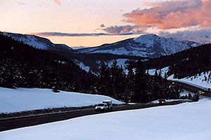 Vail Pass in the evening