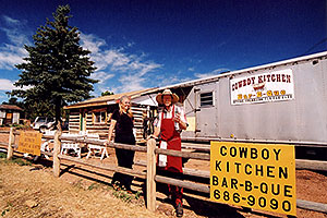 Jeff and Debbie at Cowboy Kitchen Bar-B-Que