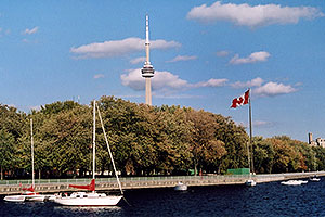 along Lake Ontario … CN Tower in the background