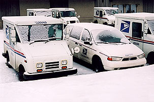 US Mail trucks in Greenwood Village