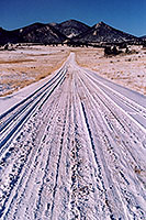 snowy side-road heading north … between Wilkerson Pass & Hartsel