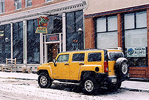 yellow Hummer H3 … images of Idaho Springs