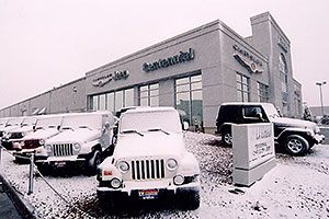 snowy Jeep Wranglers at Lithia Jeep